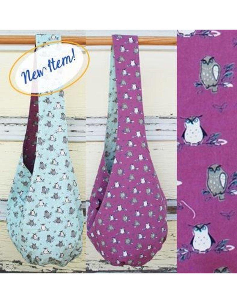 Art Studio Company Cotton Sling Bag-Owls (Rose/Mint)
