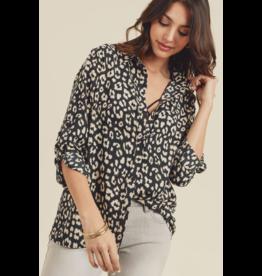 Doe & Rae Shirt-Animal Print, Blouse, Shirt
