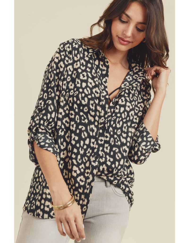 Doe & Rae Shirt-Animal Print, Blouse, Shirt