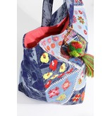 Urbanista Tote Bag-Ruggine Patch Tie-dyed Denim Slouch