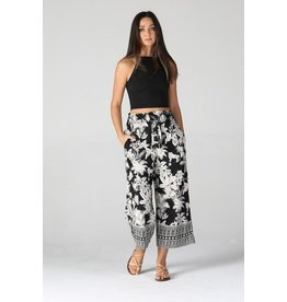 Angie Clothing Pants-Cropped Wide Leg, Tie Front