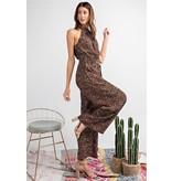 Easel Jumpsuit-Adelia Halter Neck w/Belt