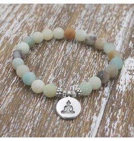 Bracelet-Buddha Amazonite Yoga