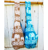 Art Studio Company Batik Cotton Sling Bag-Elephant (Blue)