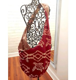 Art Studio Company Batik Cotton Sling Bag-Sea Turtle (Red)