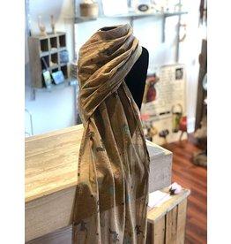 Art Studio Company Scarf Cotton-SQUIRREL (Tan)