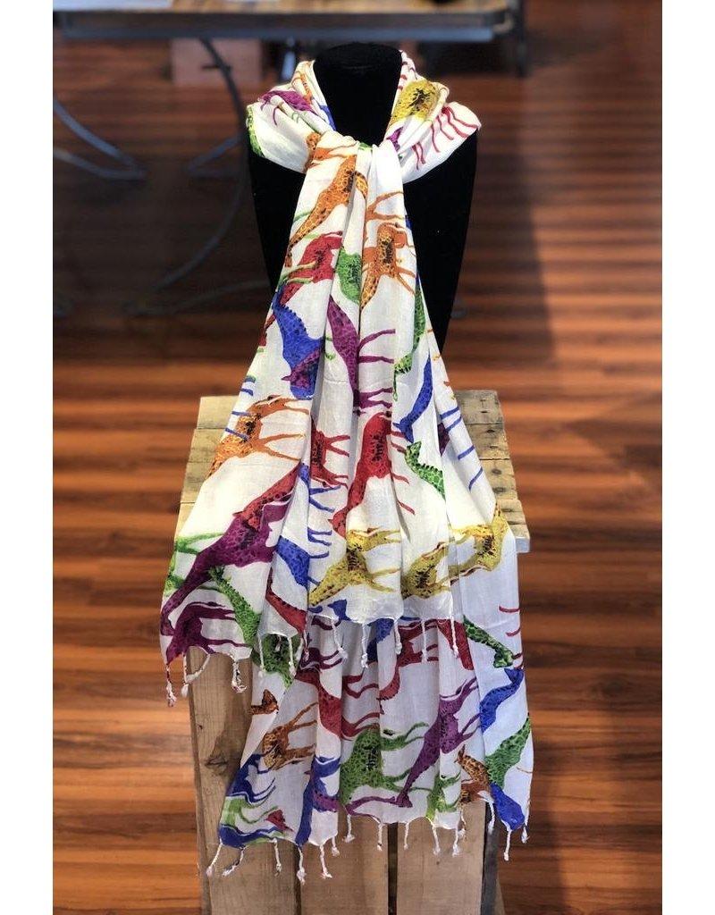 Art Studio Company Scarf Batik-Giraffes (Colored)
