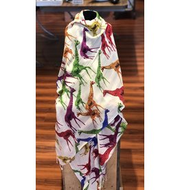 Art Studio Company Scarf Batik-Giraffes (Colored)