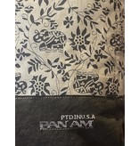 Chloe & Lex Tote-PAN AM Canvas Grey White Floral Print