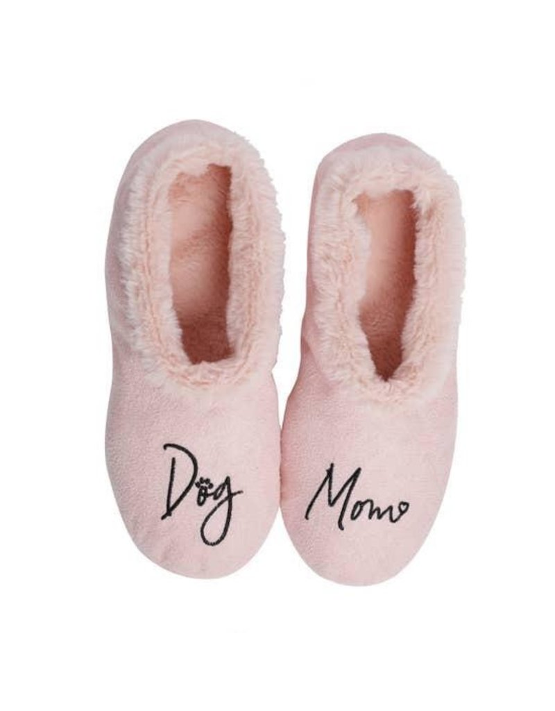 Faceplant Footsies Slippers-Dog Mom