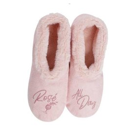 Faceplant Footsies Slippers-Rosé All Day