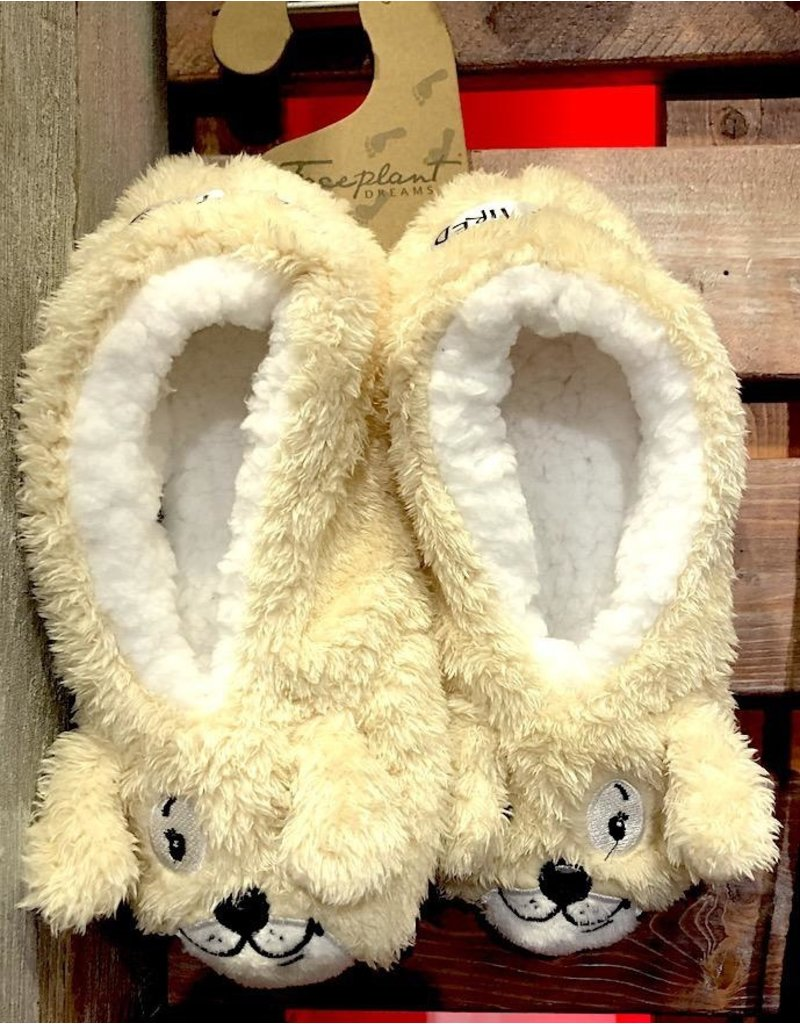 Faceplant Footsies Slippers-Dog Tired