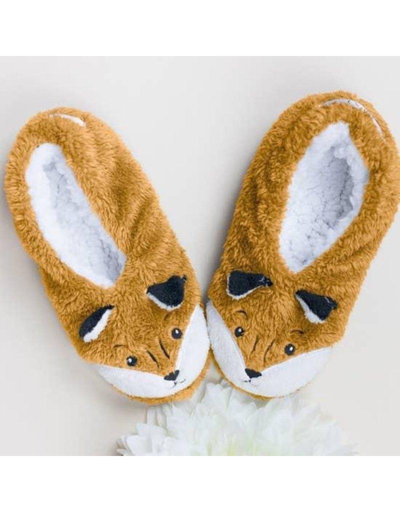 Faceplant Footsies Slippers-Foxy Fox