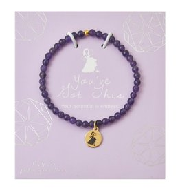 f.y.b Jewelry Bracelet-Mini Amethyst YOU'VE GOT THIS