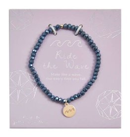 f.y.b Jewelry Bracelet-Mini Crystal Navy RIDE THE WAVE