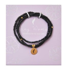 f.y.b Jewelry Bracelet-Black Crystal Wrap WING WOMAN