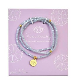 f.y.b Jewelry Bracelet-Powder Blue Crystal Wrap VISIONARY