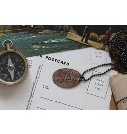 The Traveling Penny Necklace-Penny ENJOY THE JOURNEY 24""