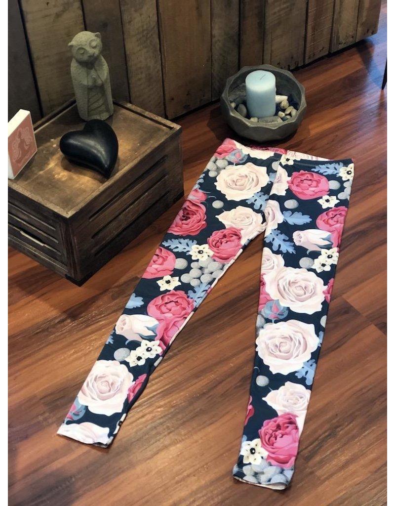 Leggings-Full Leg, Wild Roses, (One Size)
