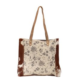 Myra Bag Tote Bag-Myra Urban Floral & Hide Hair