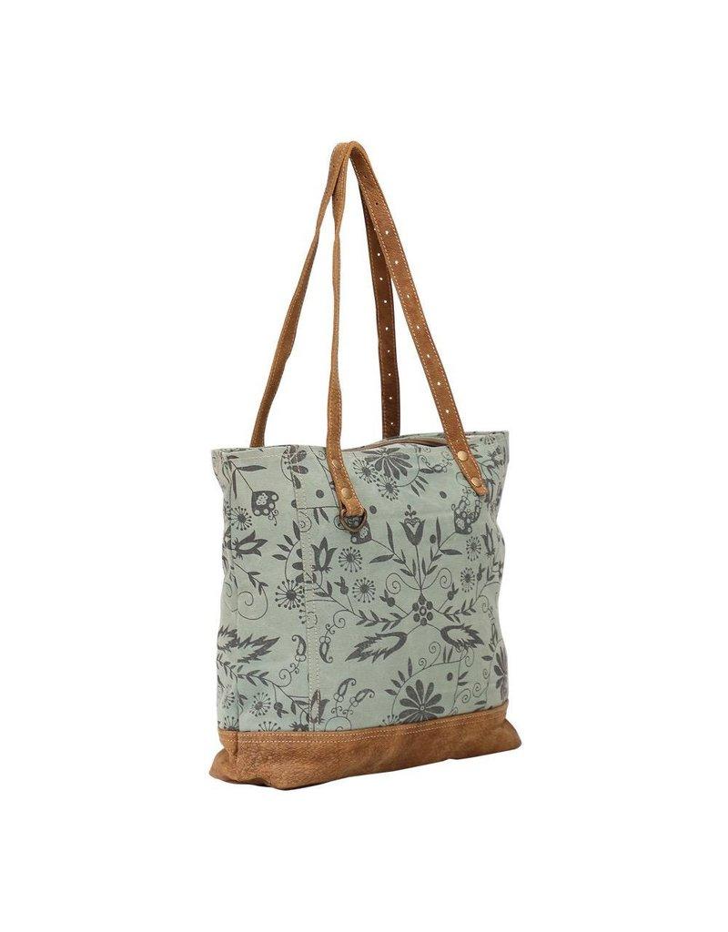 Myra Bag Tote Bag-Myra Verdant Floral Silhouette