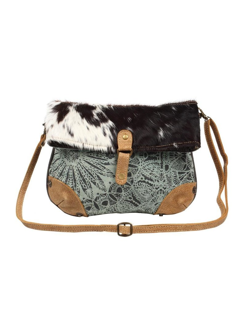 Myra Bag Crossbody Bag-Myra Verdant Mandala Print & Hide Strip