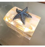 Troca Pearl Ring Box with Swarovski Crystal Starfish by Isabella Adams