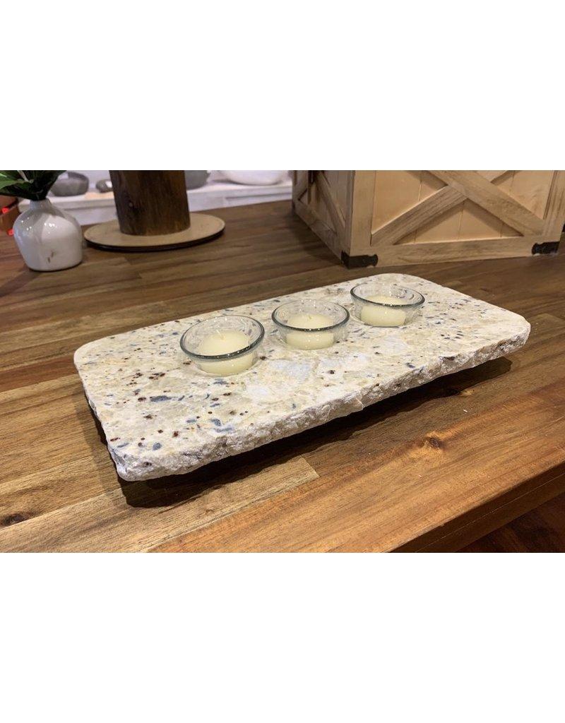 Serving Slabs Granite Candle Holder