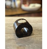 """Circle Candle Holder - Brown Marble - 3"""""""