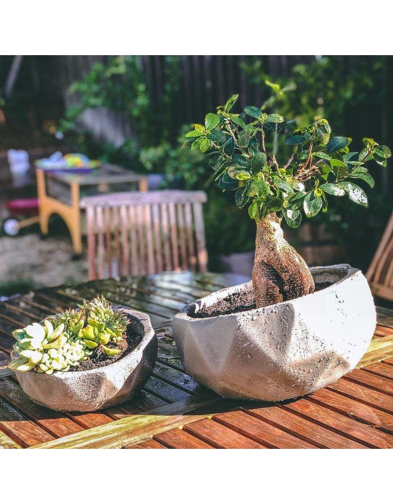 "My Spirit Garden Planter-Elmira Geometric-Small (9""x9""x4"")"