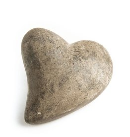 "My Spirit Garden Eco-Concrete Heart of Stone (5""x 6"") - GREY"