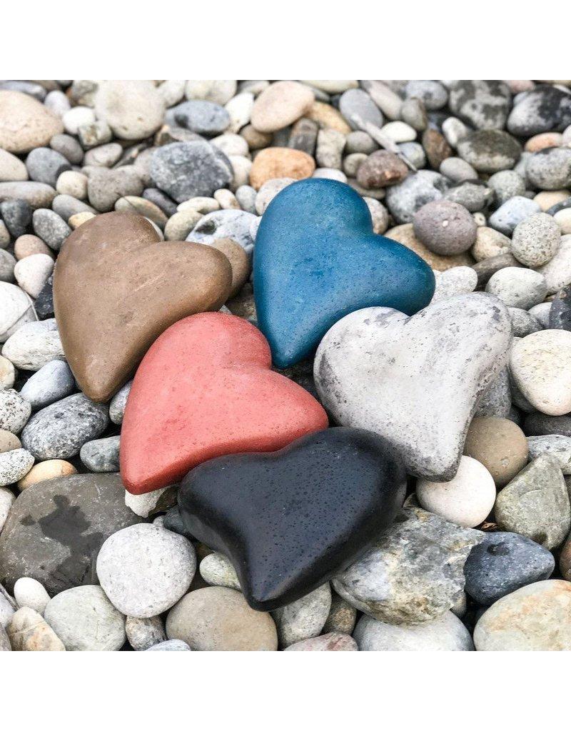 "My Spirit Garden Eco-Concrete Heart of Stone (5""x 6"") - GREY"