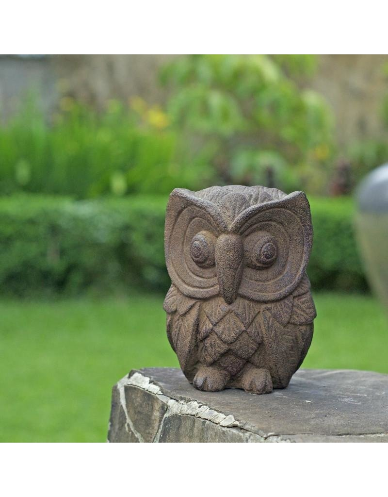 "My Spirit Garden Alluring Owl-6"" Antiqued Brown"
