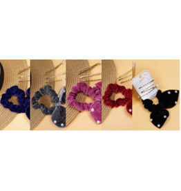 Amerikan Basics Scrunchie SET (4pc)-Linda Pearled