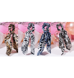Amerikan Basics Scrunchie-Silky Bow Leopard (any color)