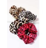 Amerikan Basics Scrunchie-Velvet Leopard (any color)
