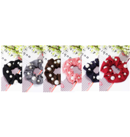 Amerikan Basics Scrunchie-Chiffon Pearled (any color)