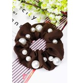 Amerikan Basics Scrunchie-Chiffon Pearled (any color)