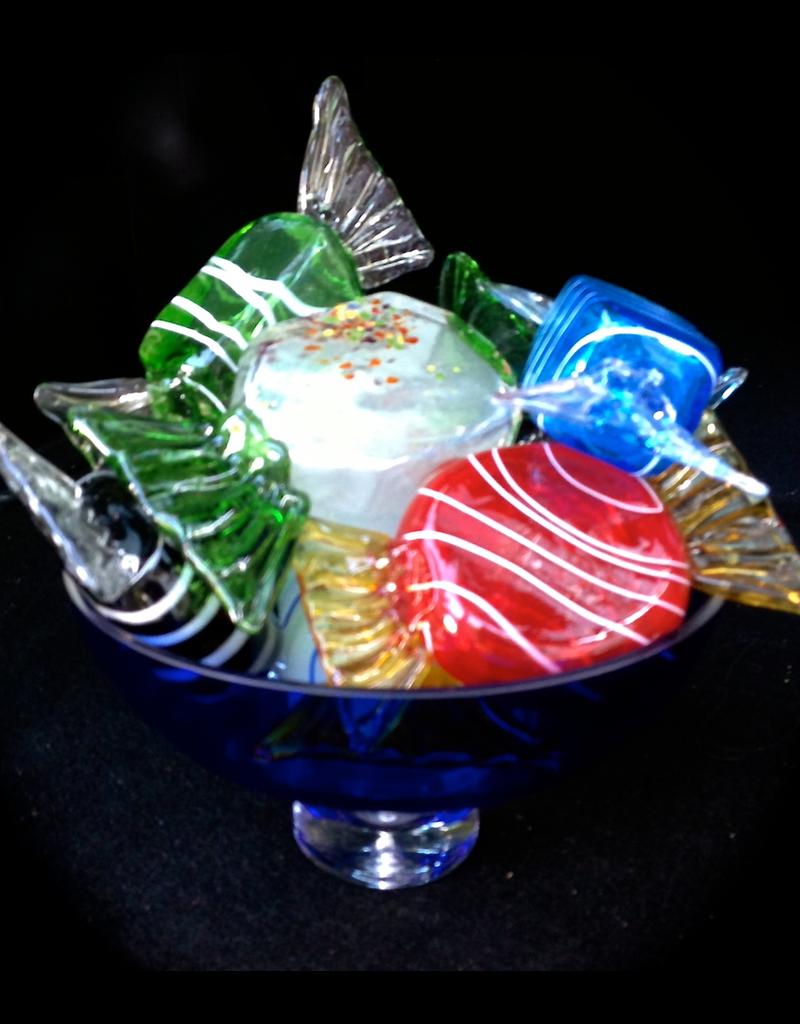 Moon Bay Art Glass Blown Glass Candy Bowl