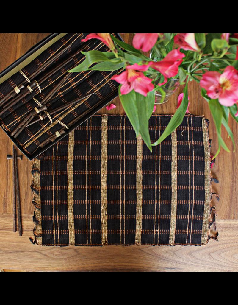 My Spirit Garden Chopsticks & Placemats Black Gift Set (5)