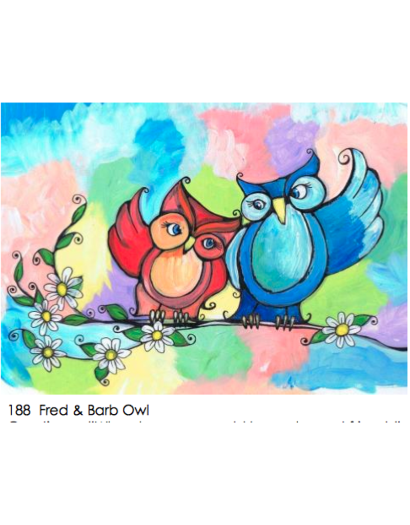 Nettie Price Deorative Magnet 'Fred & Barb Owl'