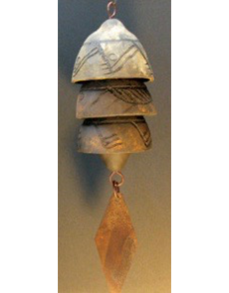 "Lane Dukart Studio Stoneware Chimes-Small 13""-14""L (3 Bells)"