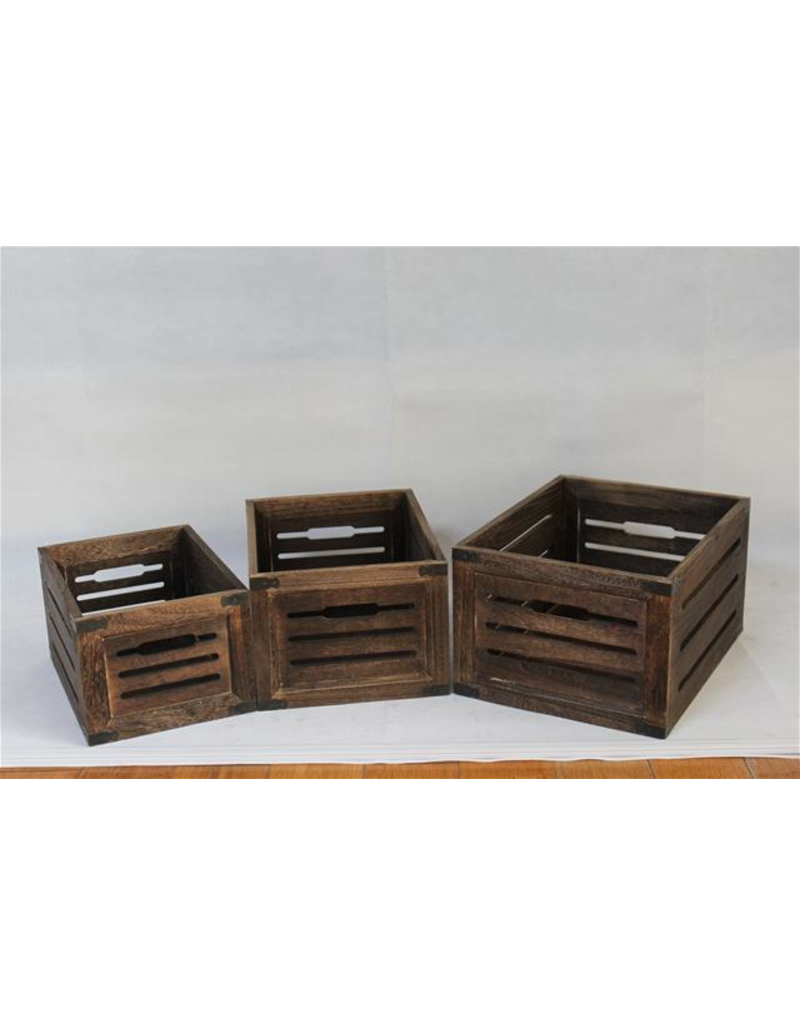 Screen Gems Distressed Wooden Crate