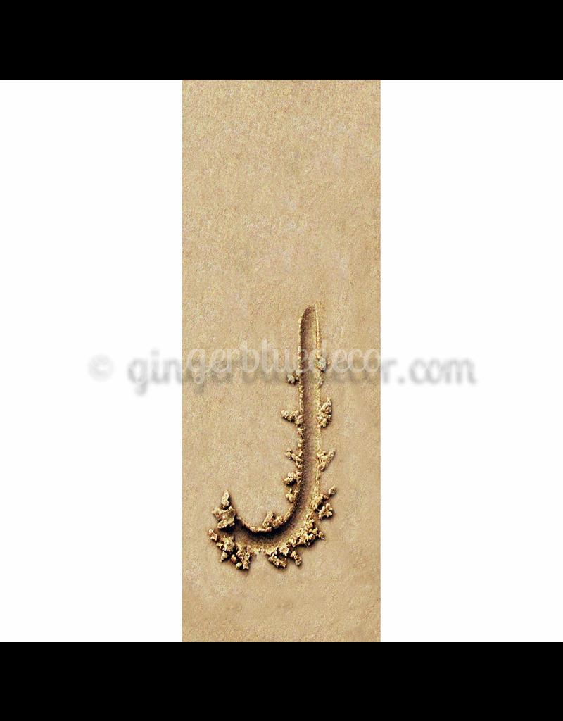Ginger Blue Magnet-Sand Letter - J