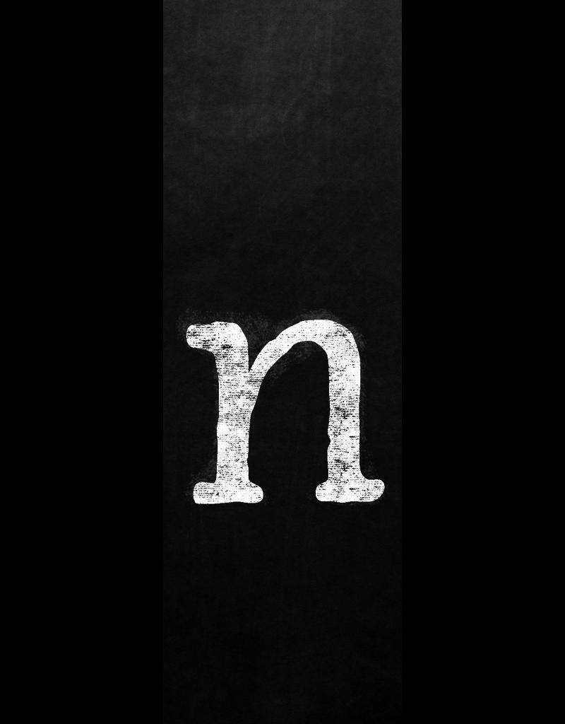 Ginger Blue Magnet-Chalk Letter - N (lower)