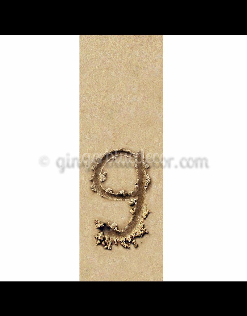 Ginger Blue Magnet-Sand Letter - G