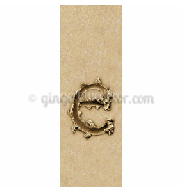 Ginger Blue Magnet-Sand Letter - E