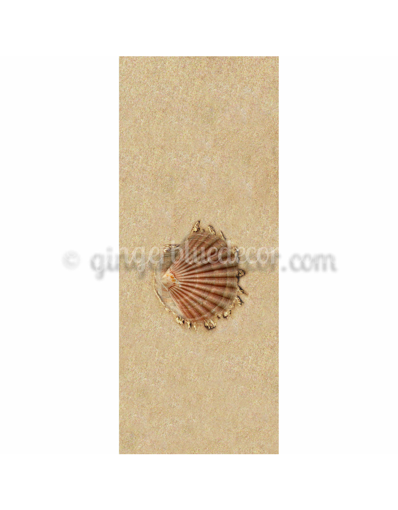 Ginger Blue Magnet-Sand Shell Right - (Brown)