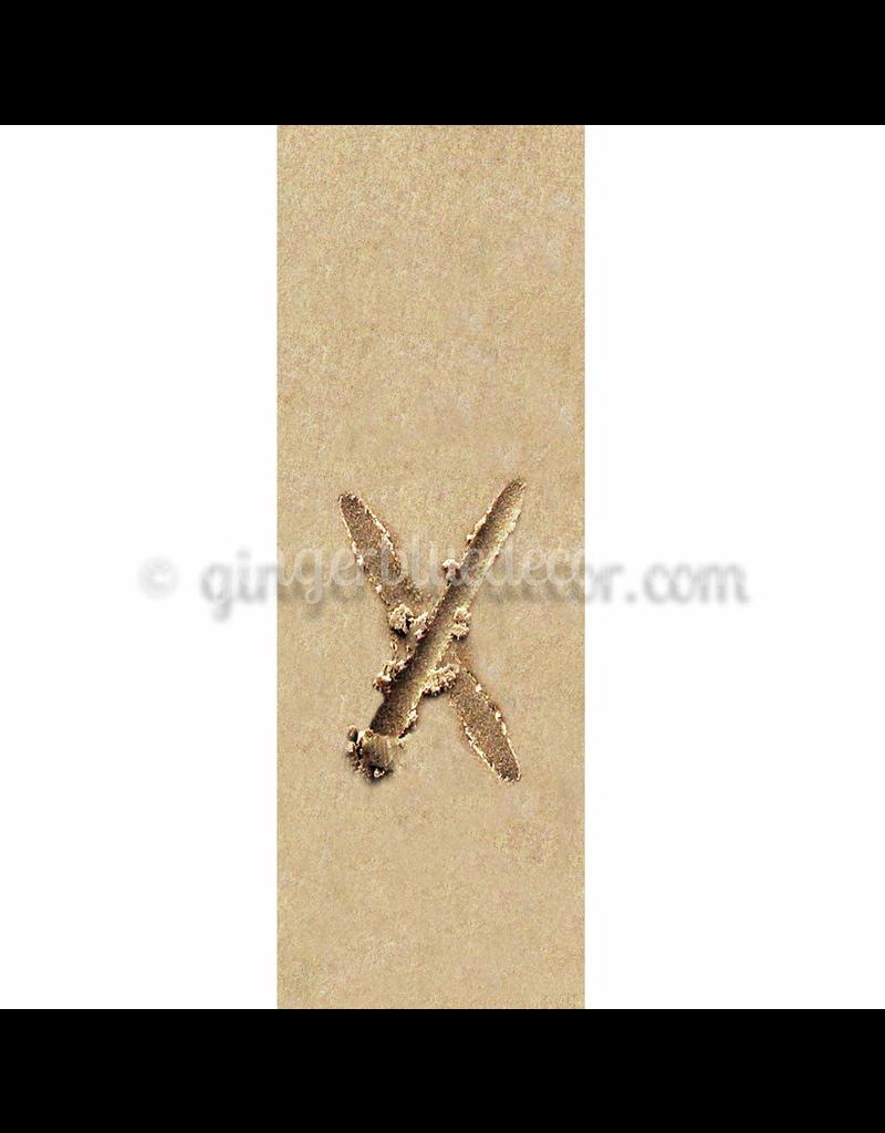 Ginger Blue Magnet-Sand Letter - X