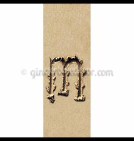 Ginger Blue Magnet-Sand Letter - M